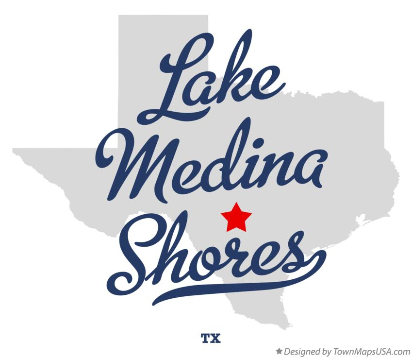 Map of Lake Medina Shores Texas TX