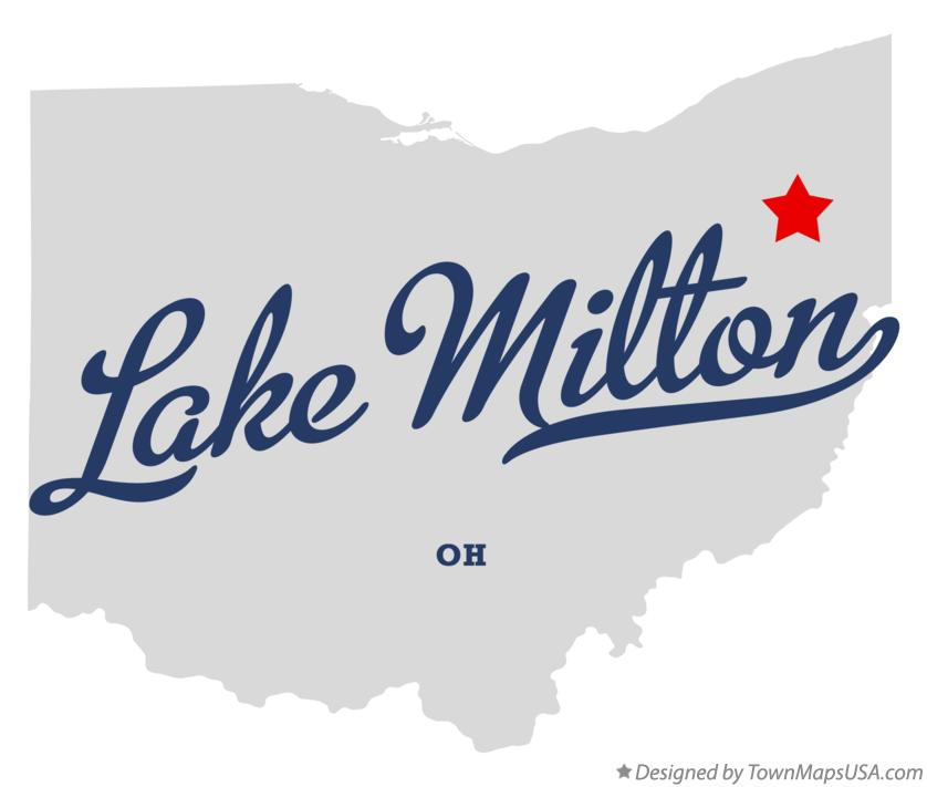 Lake Milton Ohio Map.Map Of Lake Milton Oh Ohio