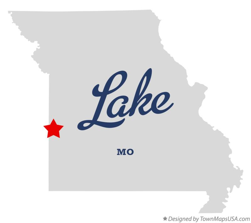 Map of Lake Missouri MO