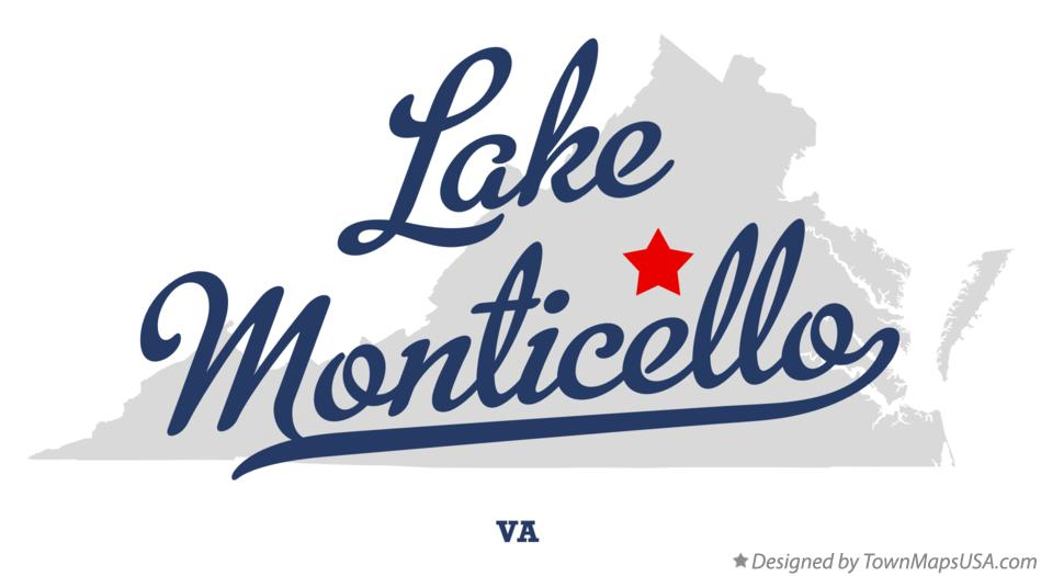 Map of Lake Monticello Virginia VA