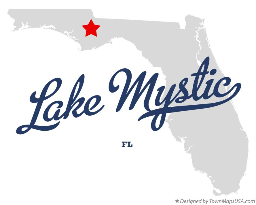 Map of Lake Mystic Florida FL