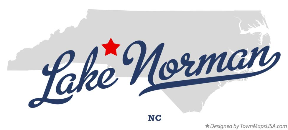 Map of Lake Norman North Carolina NC