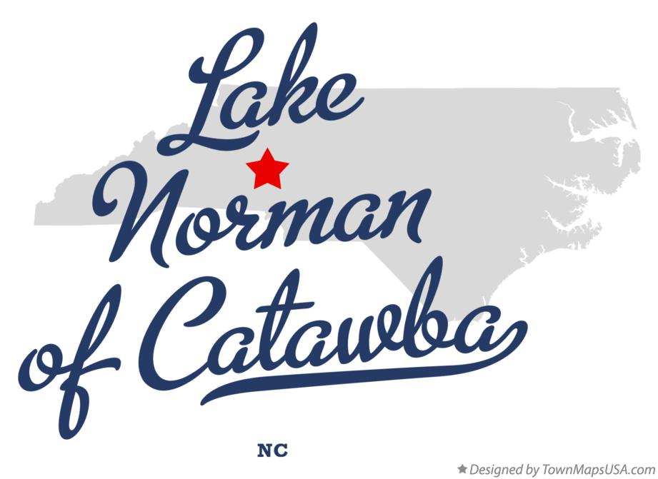 Map of Lake Norman of Catawba North Carolina NC