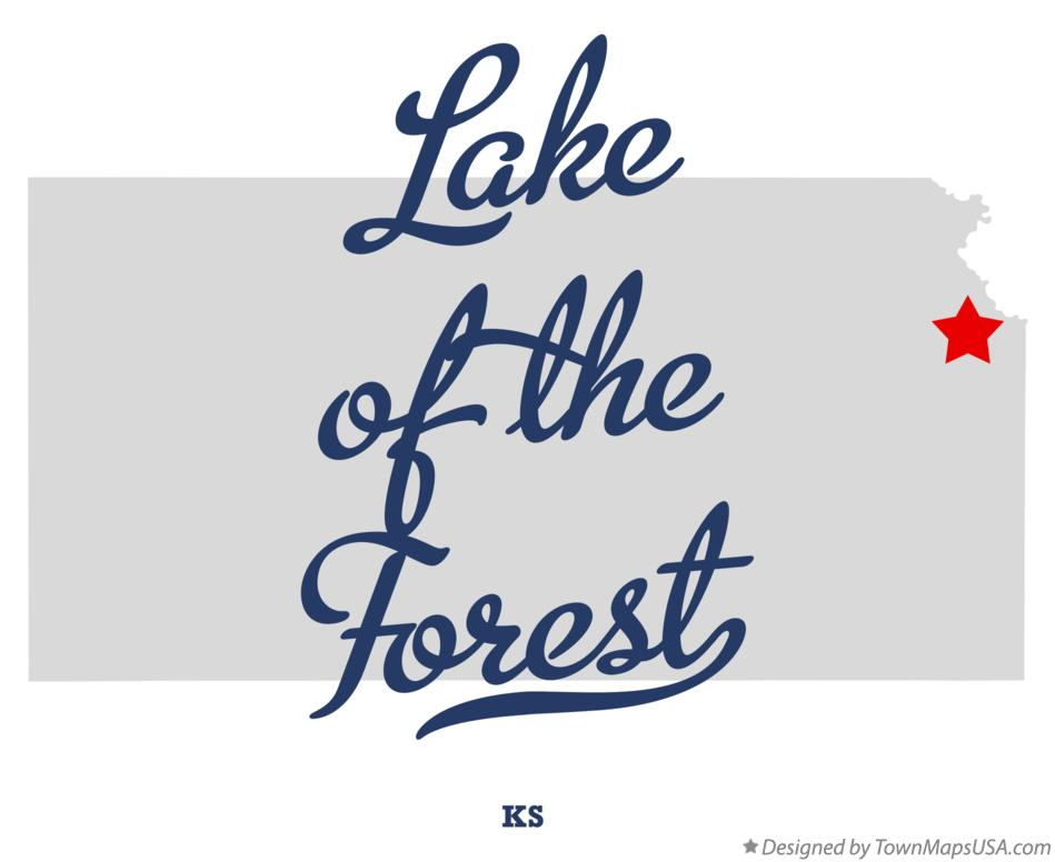 Map of Lake of the Forest Kansas KS