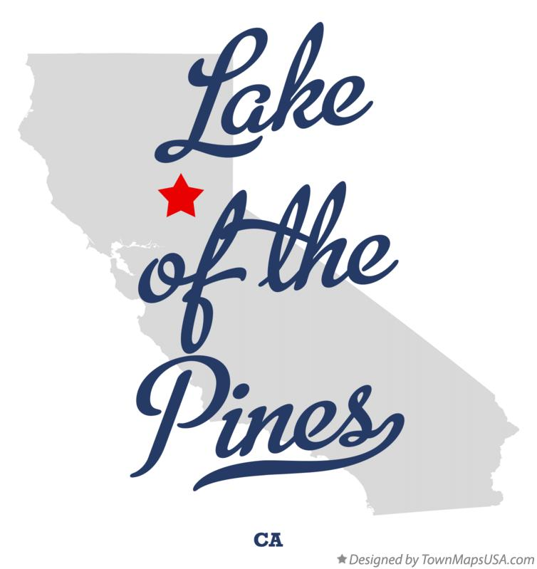 Map of Lake of the Pines California CA