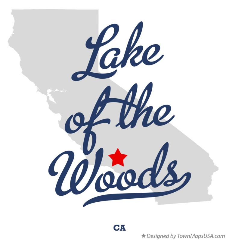 Map of Lake of the Woods California CA