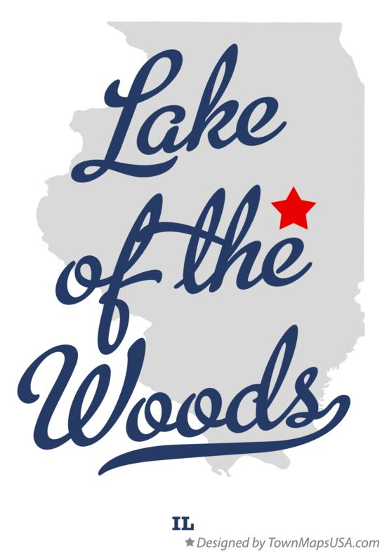 Map of Lake of the Woods Illinois IL