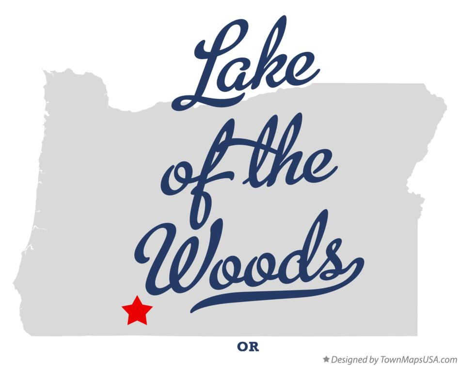 Map of Lake of the Woods Oregon OR