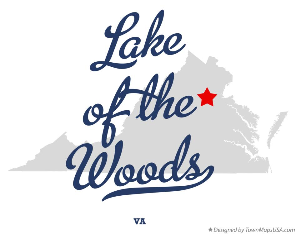 Map of Lake of the Woods Virginia VA