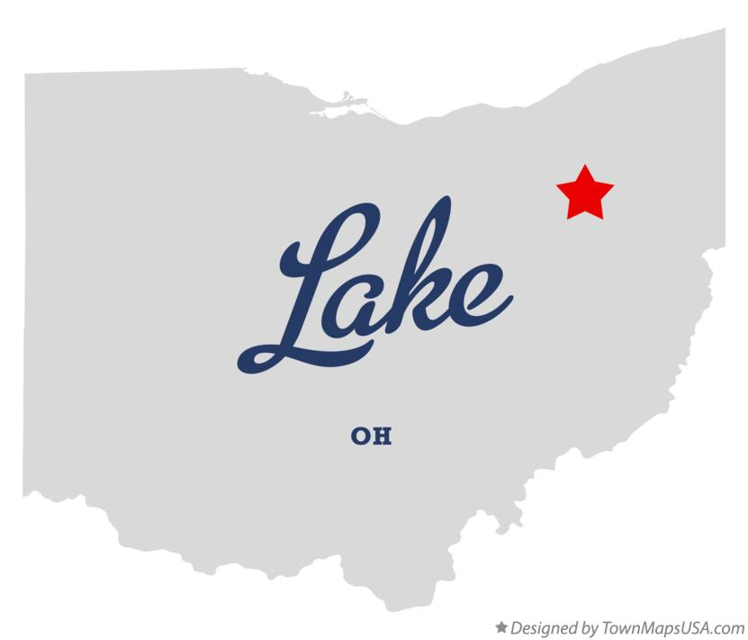 Map of Lake Ohio OH