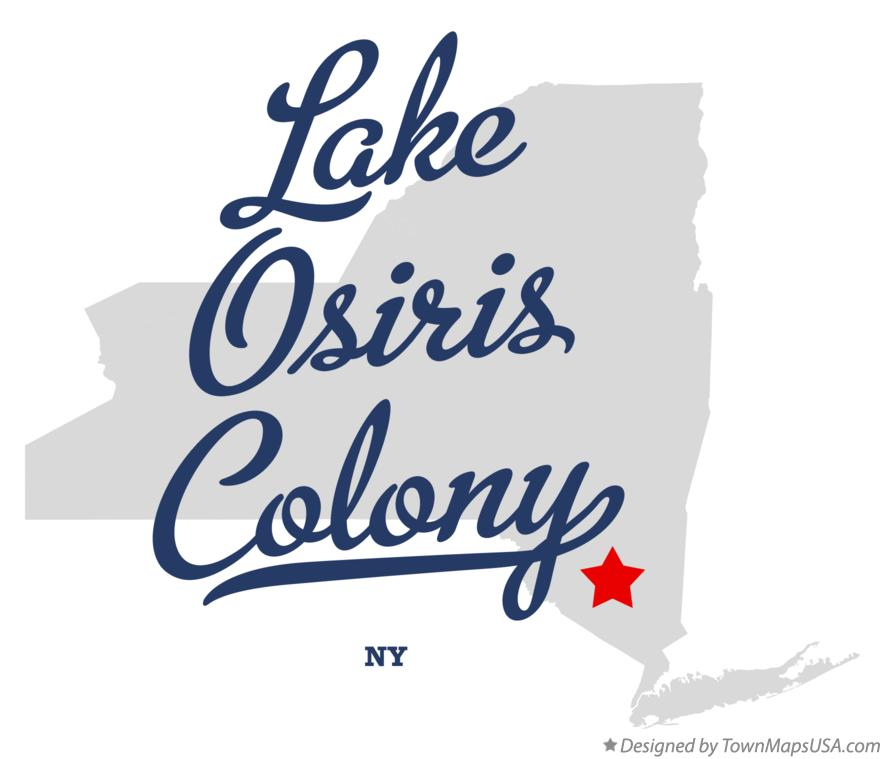 Map of Lake Osiris Colony New York NY