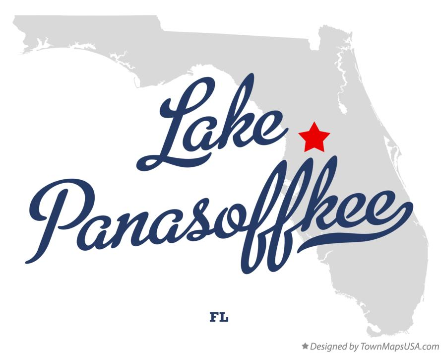 Map of Lake Panasoffkee Florida FL