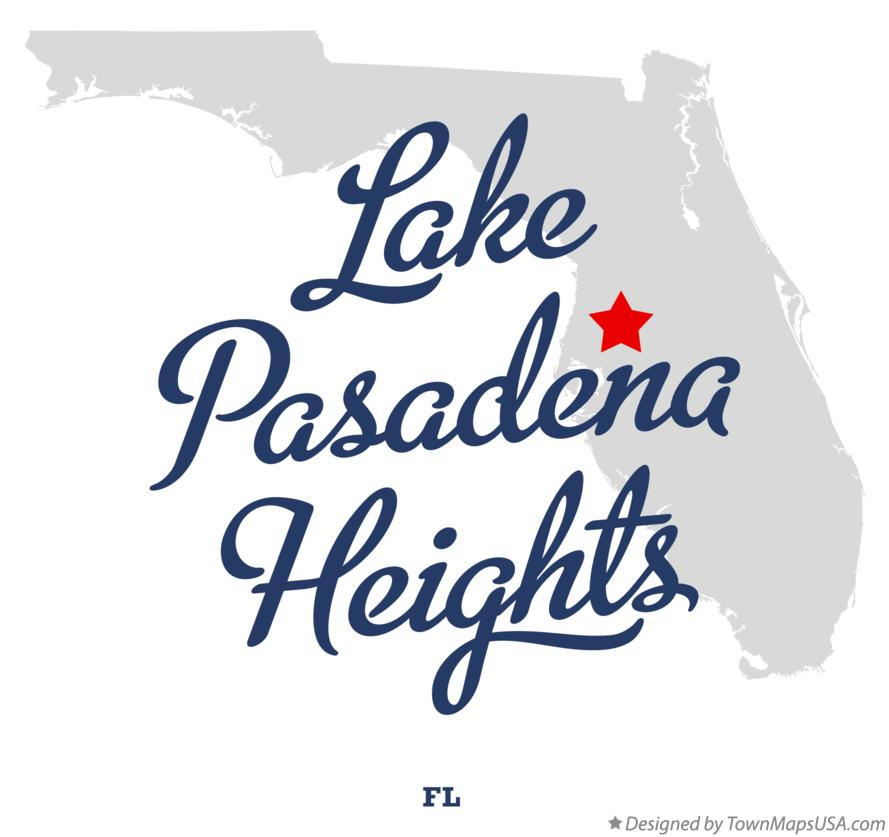 Map of Lake Pasadena Heights Florida FL