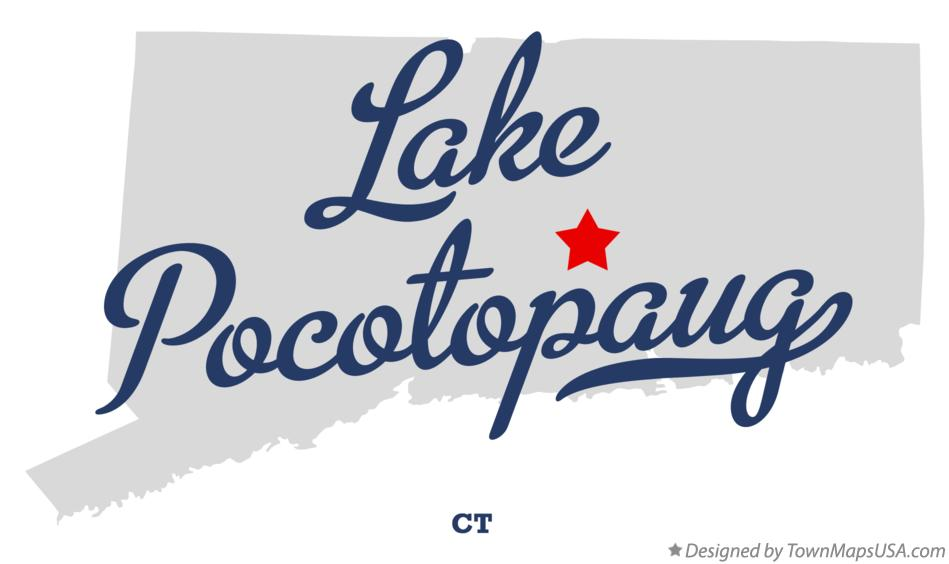 Map of Lake Pocotopaug Connecticut CT