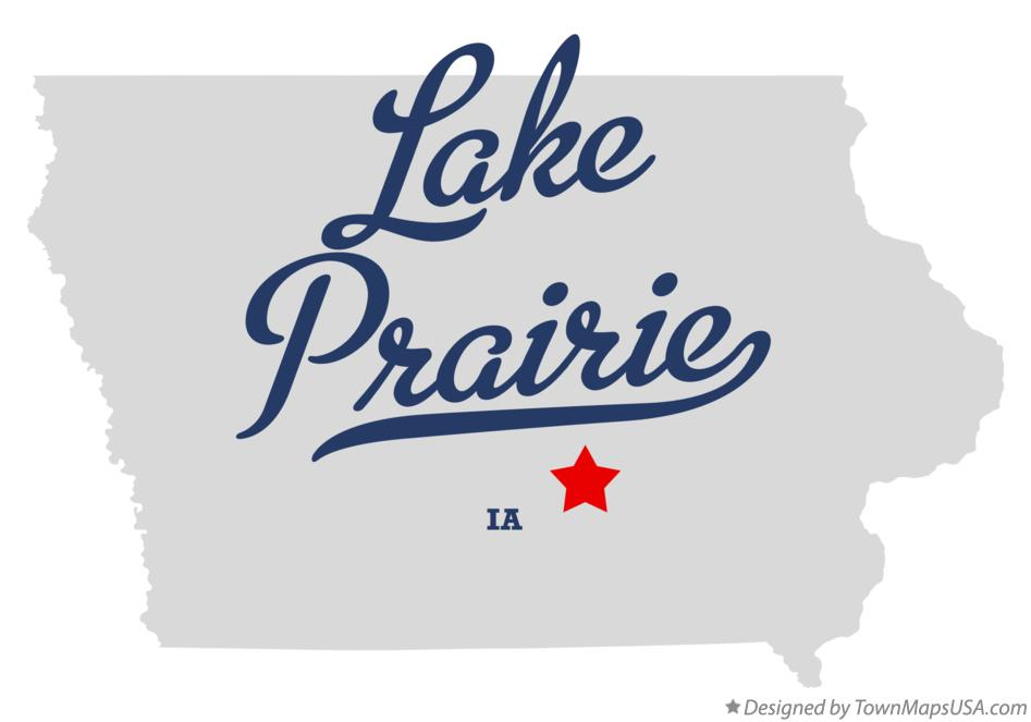 Map of Lake Prairie Iowa IA