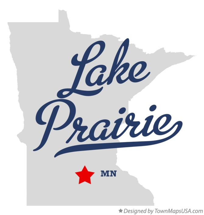 Map of Lake Prairie Minnesota MN