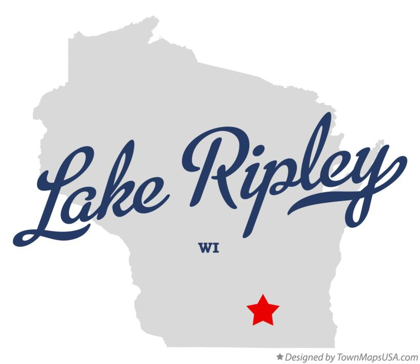 Map of Lake Ripley Wisconsin WI