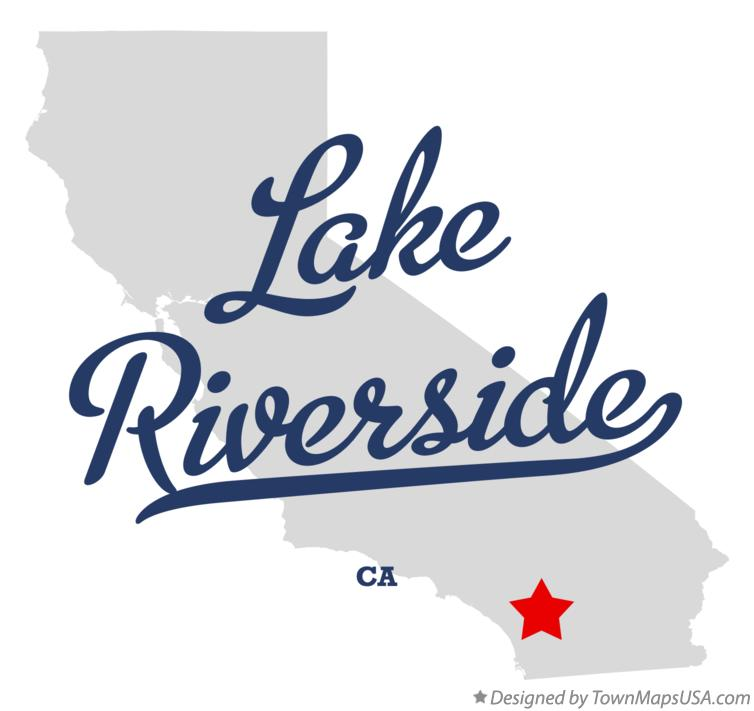 Map of Lake Riverside California CA