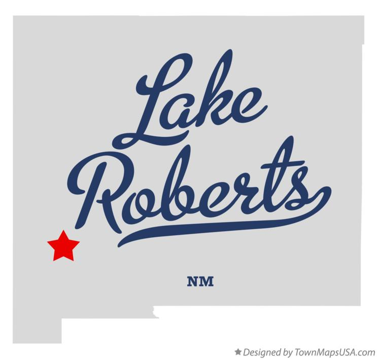 Map of Lake Roberts New Mexico NM