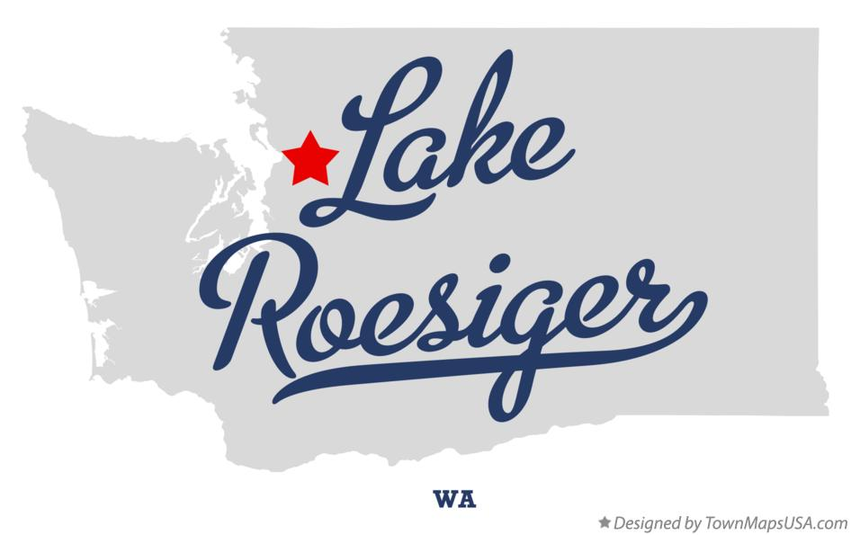 Map of Lake Roesiger Washington WA