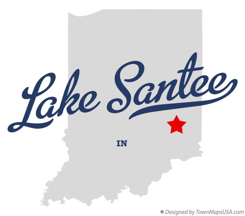 Map of Lake Santee Indiana IN