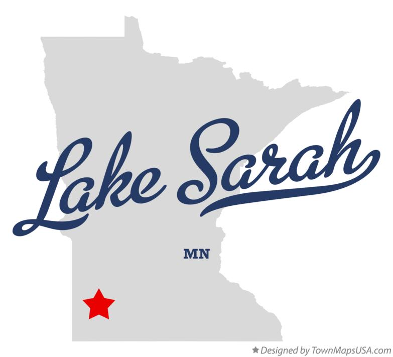 Map of Lake Sarah Minnesota MN