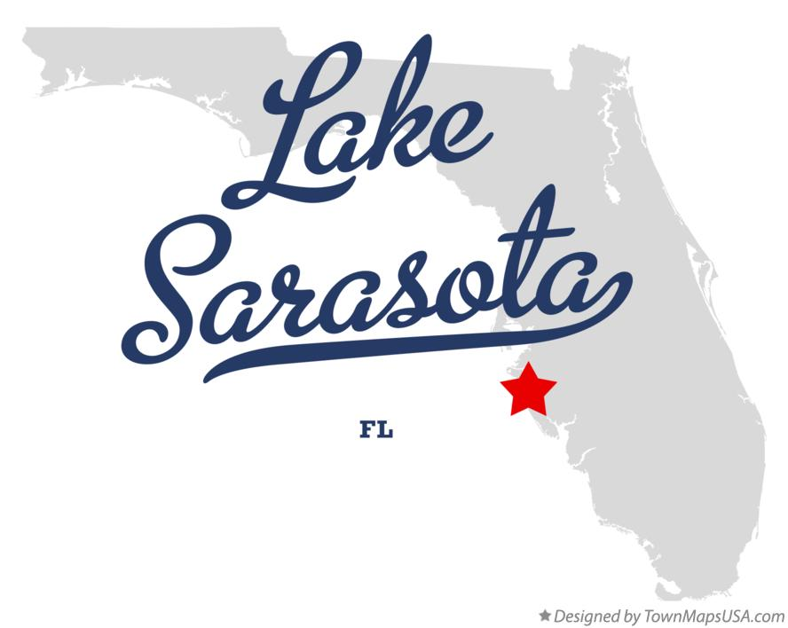 Map of Lake Sarasota Florida FL