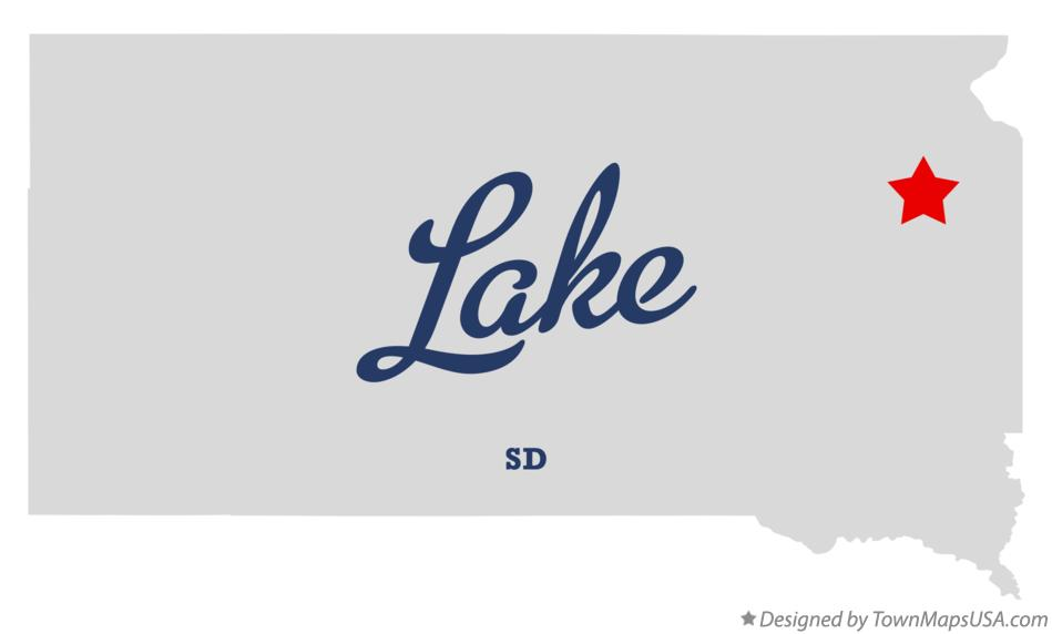 Map of Lake South Dakota SD