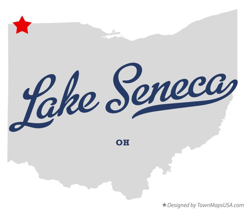 Map of Lake Seneca Ohio OH