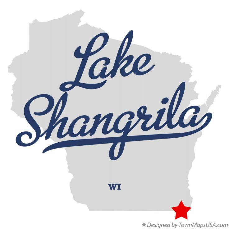 Map of Lake Shangrila Wisconsin WI