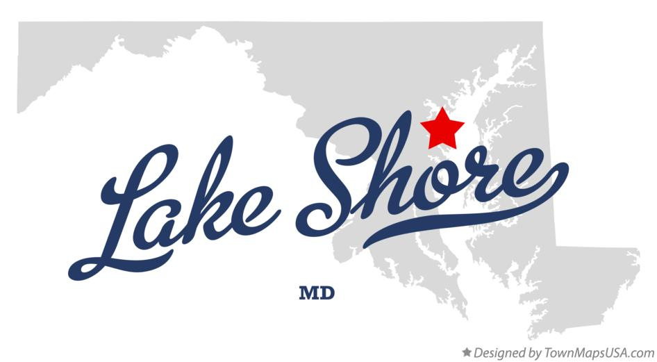 Map of Lake Shore Maryland MD