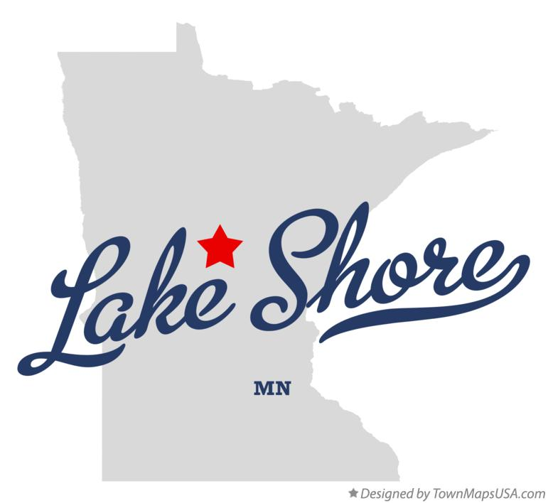 Map of Lake Shore Minnesota MN