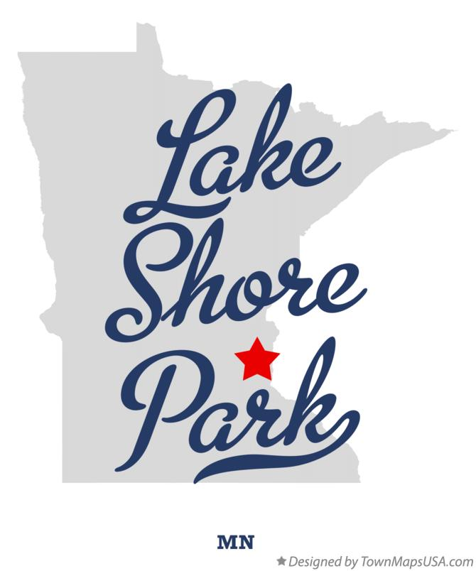 Map of Lake Shore Park Minnesota MN