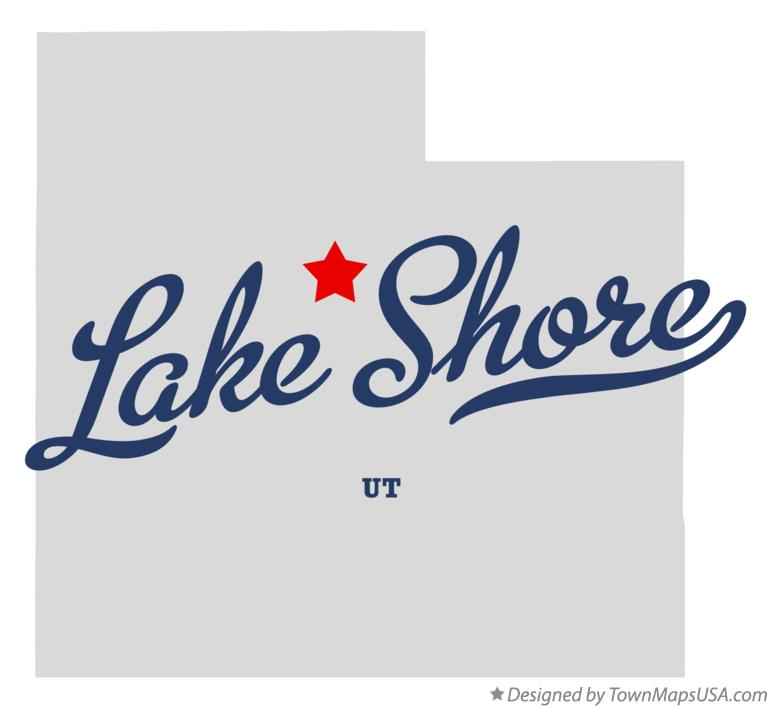 Map of Lake Shore Utah UT