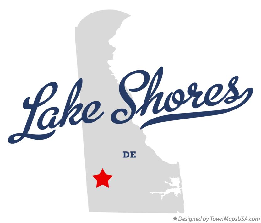 Map of Lake Shores Delaware DE