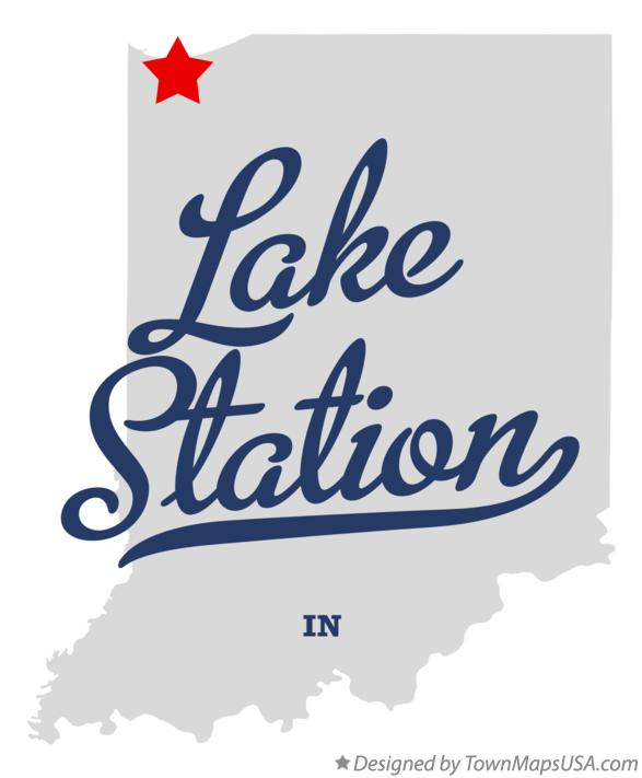 Map of Lake Station Indiana IN