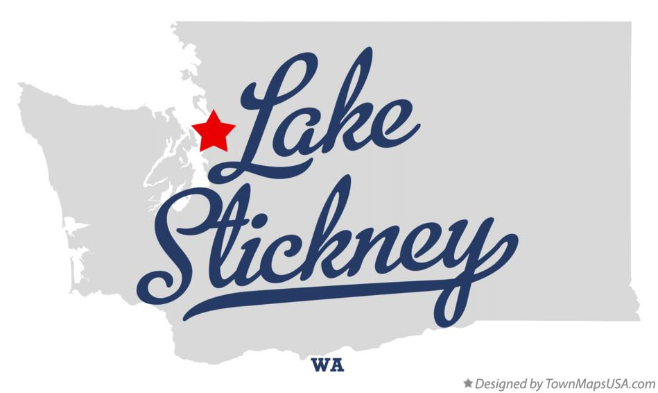 Map of Lake Stickney Washington WA