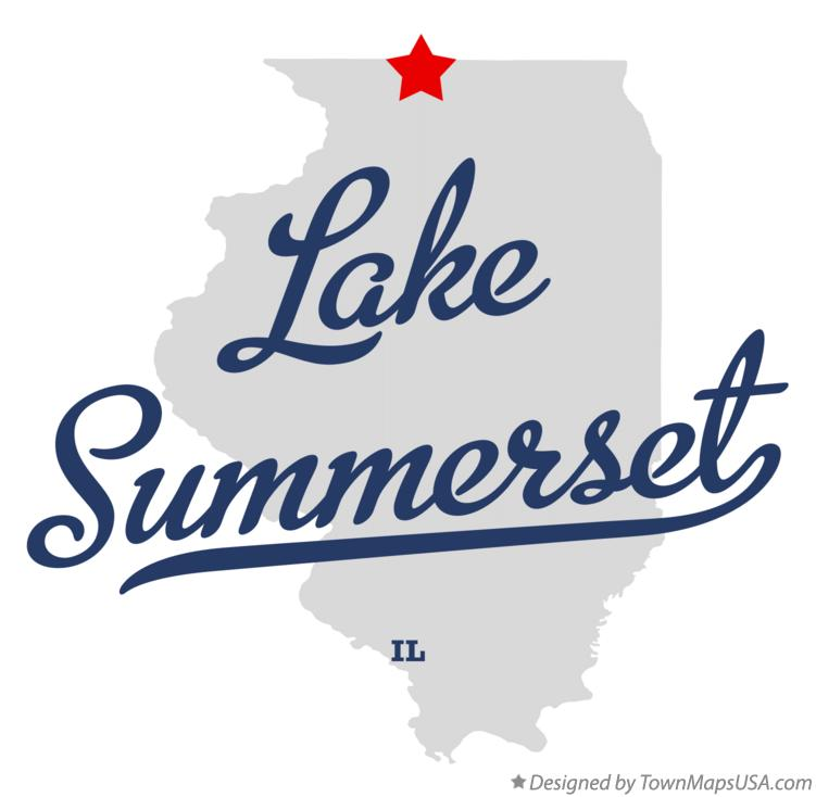 Map of Lake Summerset Illinois IL