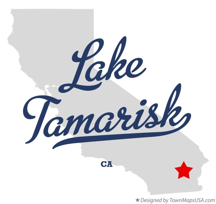 Map of Lake Tamarisk California CA