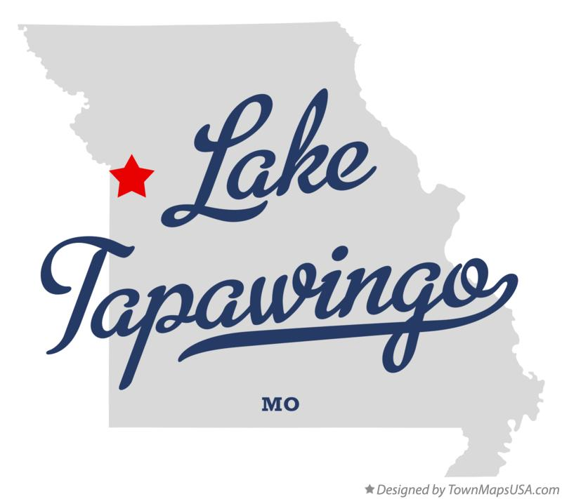 Map of Lake Tapawingo Missouri MO
