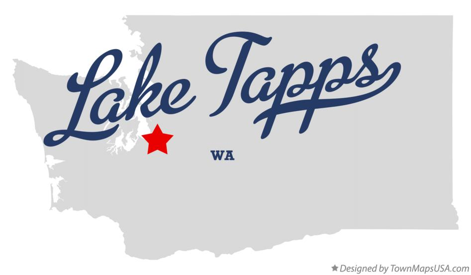 Map of Lake Tapps Washington WA