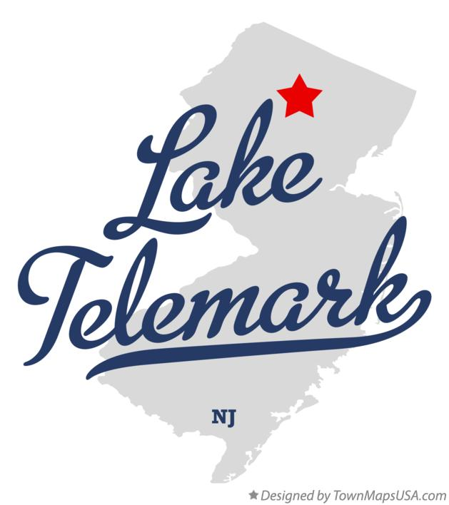 Map of Lake Telemark New Jersey NJ