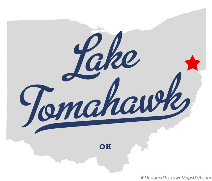 Map of Lake Tomahawk Ohio OH