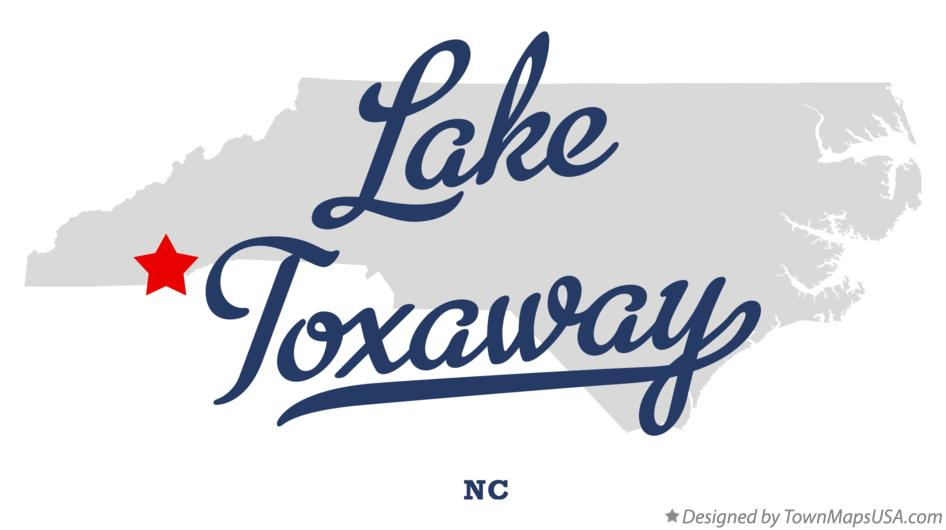 Map of Lake Toxaway North Carolina NC
