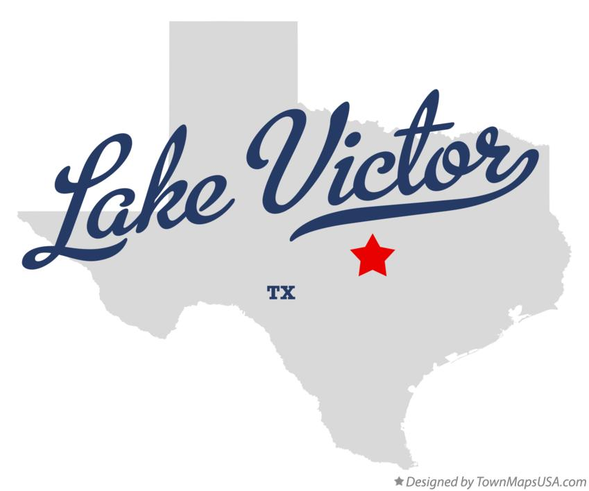 Map of Lake Victor Texas TX