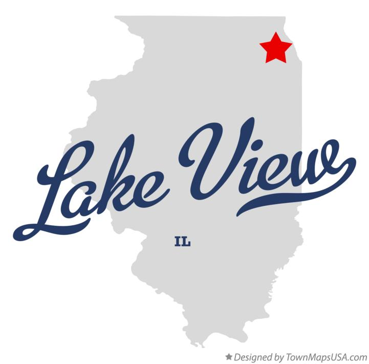 Map of Lake View Illinois IL