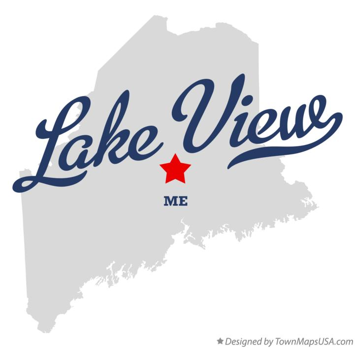 Map of Lake View Maine ME
