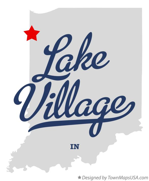 Map of Lake Village Indiana IN
