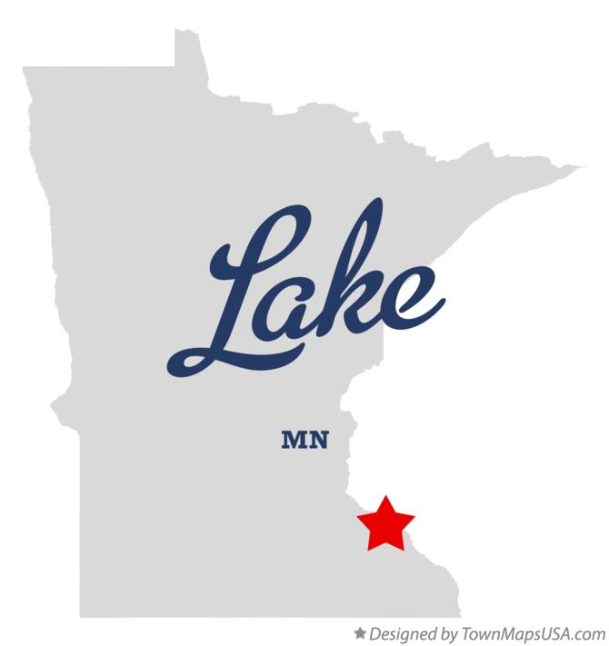 Map of Lake Minnesota MN