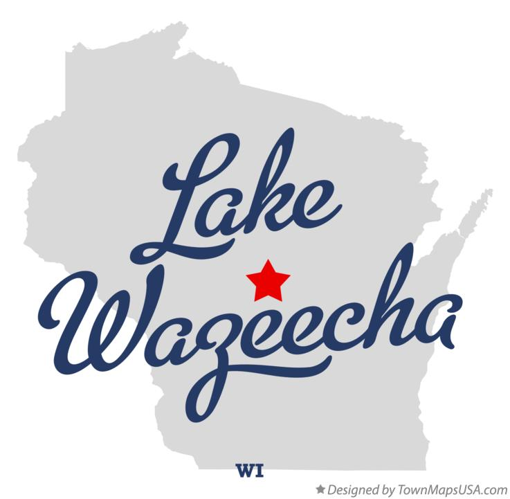 Map of Lake Wazeecha Wisconsin WI